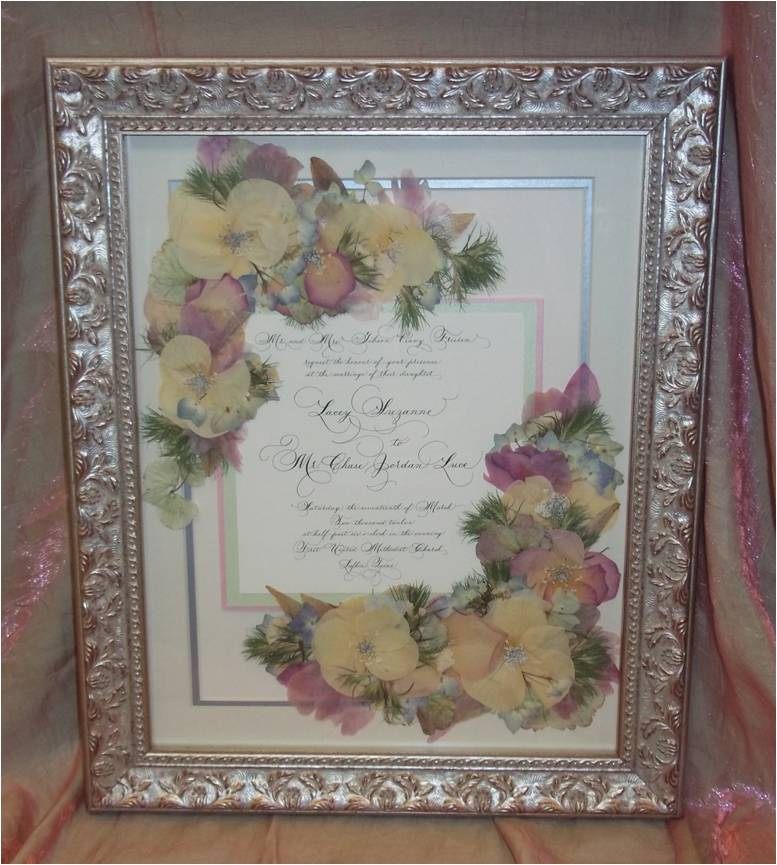 Pressed Wedding Flowers